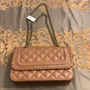 A quilted crossbody Express bag-Cognac (Authentic)